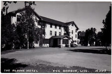 Real Photo Postcard The Alpine Hotel and Cottages in Egg Harbor, Wisconsin~93916