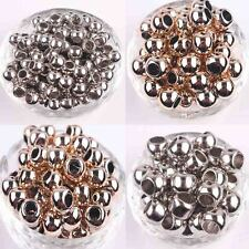 50Pcs Acrylic Round Big Hole Spacer Beads Jewelry Bracelet 10/12/14MM