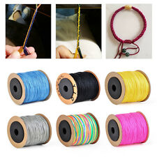 0.8mmx100M Nylon Cord Beading String Thread Rattail Macrame Chinese Knot Braided