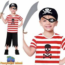 PIRATE BUCCANEER JOLLY RODGER Age 1.5 - 8 Childs Boys Fancy Dress Costume