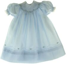 Girls Blue Smocked Bishop Dress Feltman Brothers