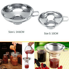 Kitchen Wide Mouth Canning Funnel Hopper Filter Cooking Stainless Steel Tools