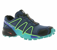 NEW Salomon Speedcross 4 W Shoes Women's trail-running shoes Sports Shoes Blue