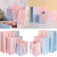 5pcs Ombre Rainbow Party Paper Gift Bags with Handles Retail Loot Shopping Bags