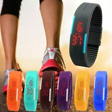 Men's Sports Ultra Thin Silicone Digital LED Wrist Watches