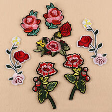Flower Applique Embroidered Sew Iron on Patches Badge Dress Clothes Fabric Craft