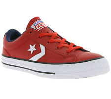 Converse Star Player OX shoes Real leather Sneaker Trainers Red White 149770C