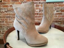 Steve Madden Taupe Suede Studded Fionah Ankle Boots NEW