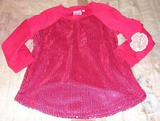 LIPSTIK GIRLS TODDLER GIRLS SIZE 3T HOT PINK SEQUIN JERSEY TOP NEW WITH TAGS