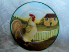 """Collectible BLOCK by GEAR """"Country Farm"""" Chicken / Rooster Plate"""
