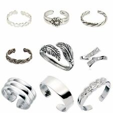 Mixed Design 925 Sterling Silver Adjustable Toe /Small Finger Rings