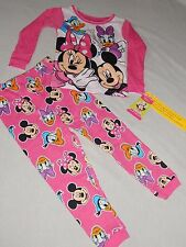 NEW Minnie Mouse Mickey 2pc Sleep Pants Set GIRLS Toddlers Pajamas Shirt Disney
