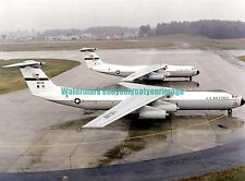 USAF Lockheed  Starlifter C-141A  C-141B  Aircraft Color Photo Military Jet