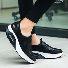 Ladies Sneakers Sport Women's Running Striped Trainers Casual Lace Up Shoes