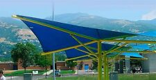 NEW TRIANGLE OUTDOOR SUN SAIL SHADE CANOPY COVER - BLUE