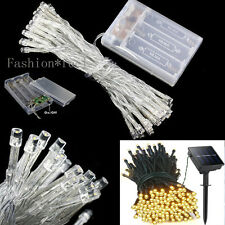 Battery Solar Powered LED String Fairy Lights Indoor/Outdoor Christmas Party