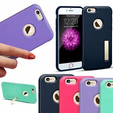 Kickstand Phone Hard Case Slim TPU/Rubber Matte Cover For Apple iPhone 6 6S Plus