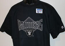 Vintage 90s Oakland LA RAIDERS LOGO 7 T-Shirt SEWN FRONT PATCH NWT NEW Old Stock