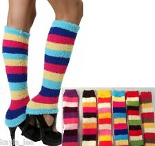 Super Soft 4 Color Chenille Dance/Exercise Knit Leg Warmers Boot Cuff Socks