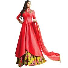 Designer Anarkali Full Length Salwar Kameez Suit Bollywood Dress India-LT-1010