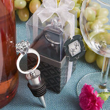 Diamond Wedding Ring Wine Bottle Stoppers Wedding Shower Favors