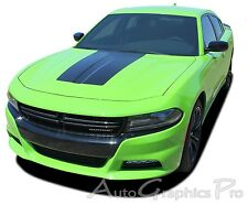 2015 2016 2017 Dodge Charger HOOD 15 Blackout Vinyl Graphic Decals Stripes Kit