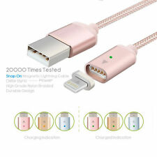 Braided Magnetic Lightning USB Charger Charging Cable For iPhone Samsung Phone