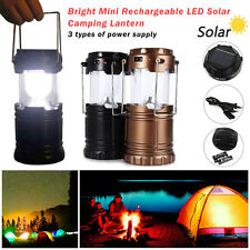 ZNU LED Rechargeable Camping Light Collapsible Solar Camping Lantern Tent Lights