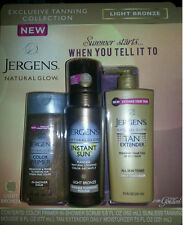 JERGENS NATURAL GLOW TANNING TRIO PRIMER INSTANT SUN TAN EXTENDER FREE SHIPPING