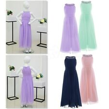 Flower Girl Dress Special Time Wedding Prom Gowns Sleeveless Chiffon Size 4-14