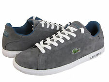 Lacoste Mens Graduate CA Dark Grey Suede Lace-up Fashion Sneakers Shoes Kicks