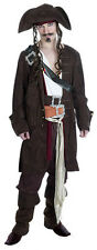 MENS PIRATE CAPTAIN JACK FULL DELUXE FANCY DRESS COSTUME OUTFIT S M L XL NEW
