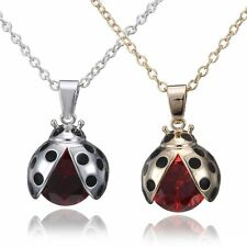 Fashion Lovely Silver/Gold Plated Zircon Beetle Pendant Necklace Charm Jewelry