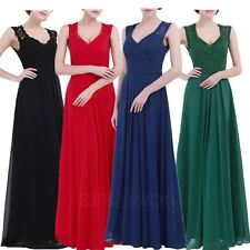 Women Gowns Lace Chiffon Long Dress Bridesmaid Evening Party Cocktail Maxi Dress