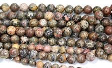 Wholesale Natural Leopard Skin Jasper  Round Loose Beads 4-14mm