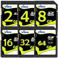 Genuine Vida IT 2GB-4GB SD SDHC Fast Memory Card High Speed Class For Camera UK