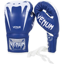 Venum Giant 3.0 Nappa Leather Lace Up Boxing Gloves - Blue