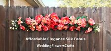 Huge Swag ~ MANY COLORS Centerpiece Silk Wedding Flowers Arch Decoration Chuppah