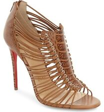 Christian Louboutin Amal 100 Beige Ostrich Leather Shoes