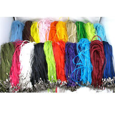 50/10 Organza Voile String Ribbon Cord Necklace Lobster Clasp Chain Findings DIY