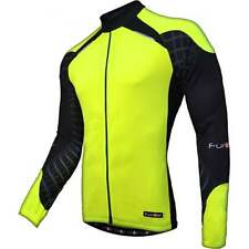 Funkier Force J-730-LW Mens Long Sleeve Cycle Cycling Bike Jersey - Yellow/Black