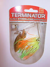 TERMINATOR SUPER STAINLESS FISHING SPINNERBAIT VARIOUS COLOURS