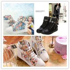 Women Ladies Casual Canvas Platform High-top Skateboard Lace Up Sneakers Shoes