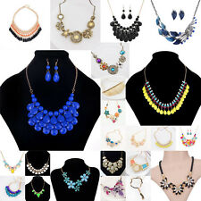 Fashion Charm Lady Pendant Chunky Necklace Statement Chain Crystal Jewelry