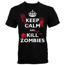 Keep Calm and Kill Zombies Men's Black T-shirt