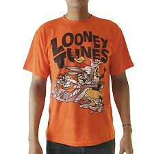 Looney Tunes Bugs Bunny,Taz and Friends Licensed Men's Orange T-shirt