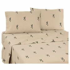 BROWNING BUCKMARK BEDDING - SHEETS SET- TWIN-FULL-QUEEN