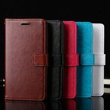 Fashion Flip Wallet Card Slot Faux Leather Case Cover for iPhone 7 Samsung Calm