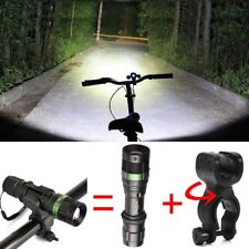 12000LM Police CREE T6 LED Flashlight Bike 18650/AAA Lamp Torch 360° Mount Clip