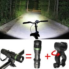 12000LM Police T6 LED Flashlight Bike 18650/AAA Lamp Torch 360° Mount Clip